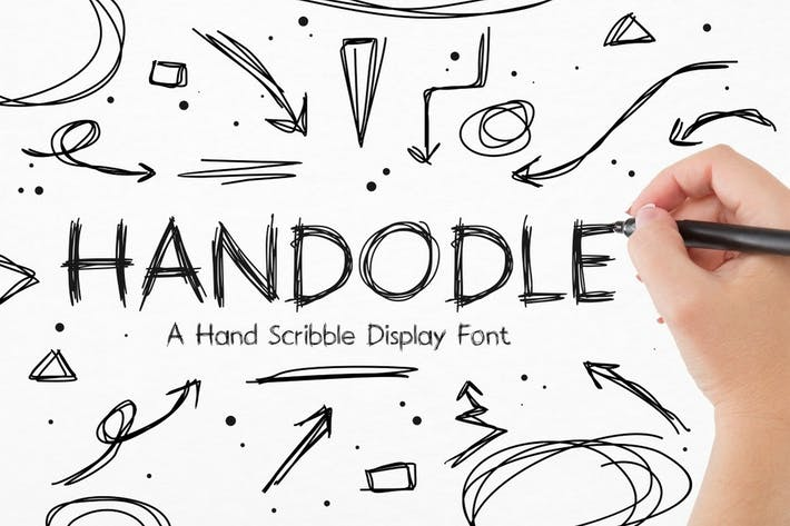 Handodle - A Hand Scribble Display Font