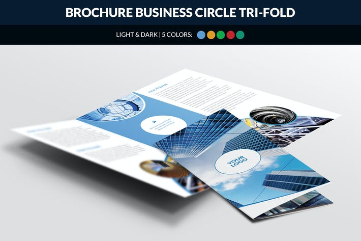 Thumbnail for Brochure Business Circle Tri Fold