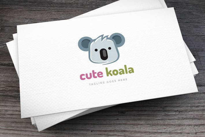 Thumbnail for Cute Koala Logo Template
