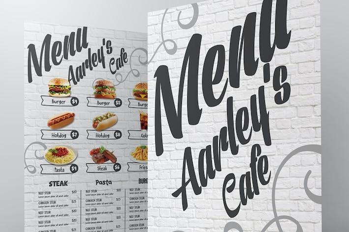 Cafe Menu + Visitenkarte