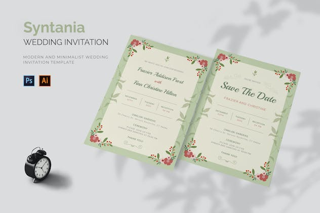 Syntania - Wedding Invitation