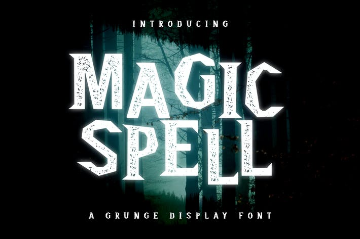 Thumbnail for Magic Spell - Magical Grunge Display Font