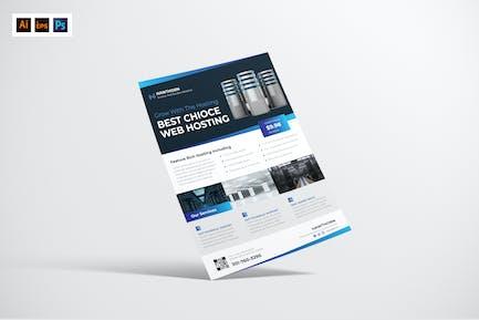 Web Hosting Flyer Design