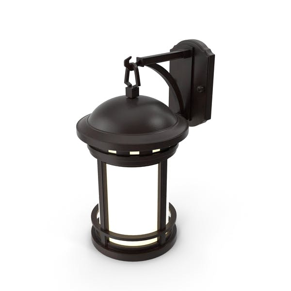 Vintage Decorative Street Wall Lantern Switched On