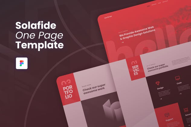 Solafide - One Page Website Template