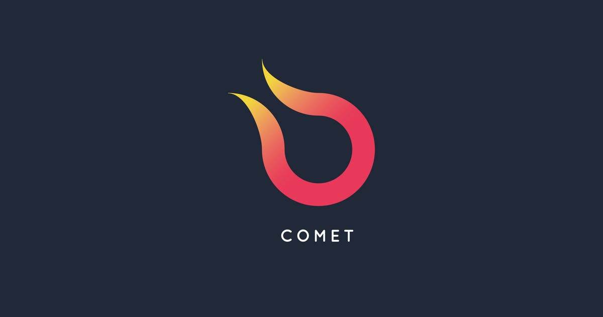 Download Comet Logo Template by Pixasquare