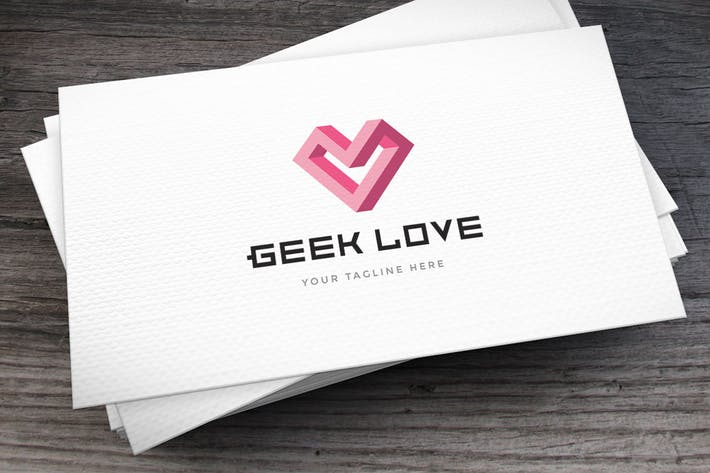 Thumbnail for Geek Love Logo Template
