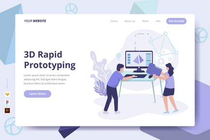 3D Rapid Prototyping - Landing Page