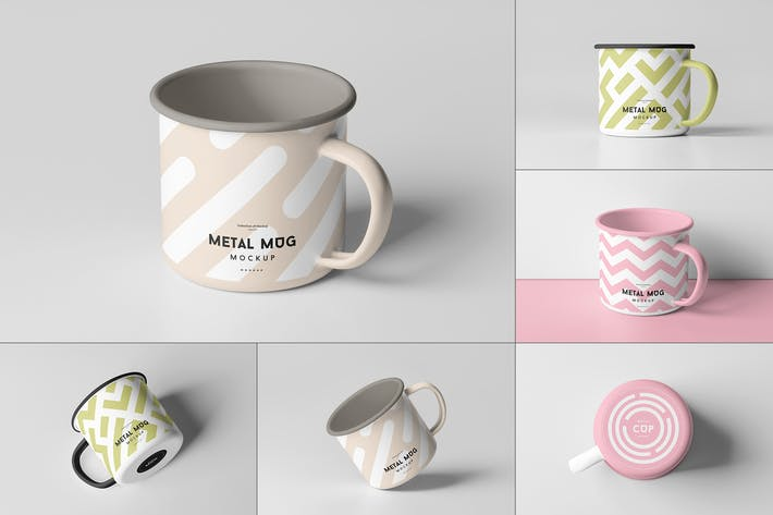 Thumbnail for Metal Mug Mock-up