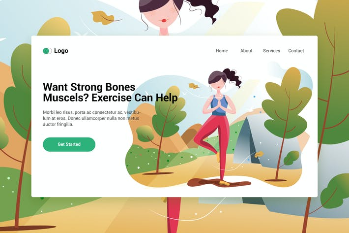 Thumbnail for Sport Activities web template for Landing page