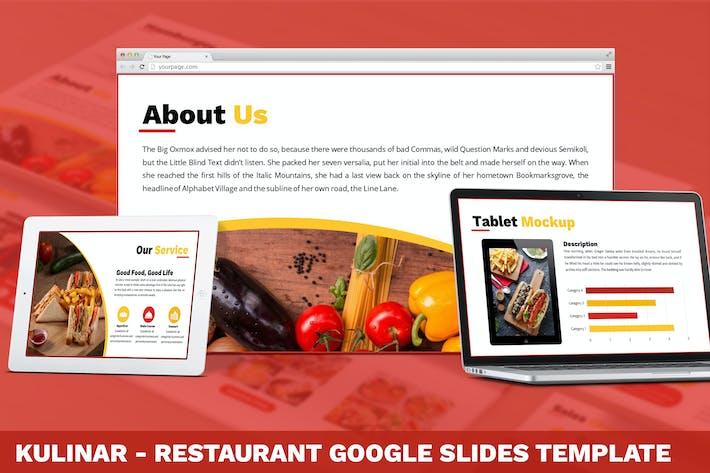 Thumbnail for Kulinar - Restaurant Google Slides Template