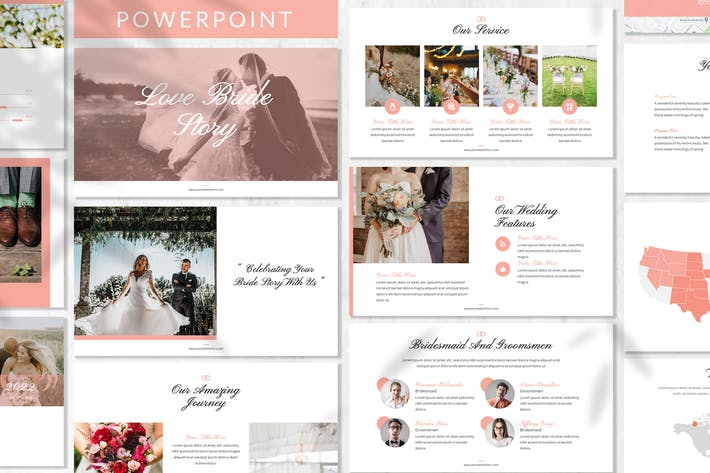 Love Bride Story - Wedding Powerpoint Template