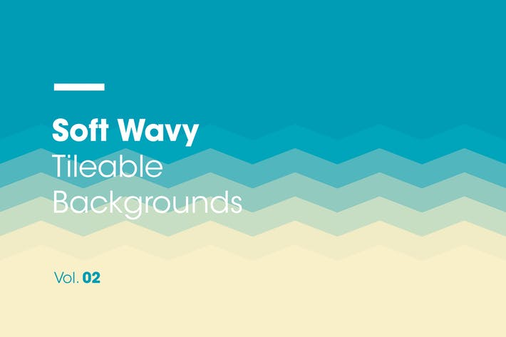 Thumbnail for Soft Wavy | Tileable Backgrounds | Vol. 02