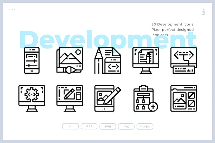 Thumbnail for 30 Design and Development Icons