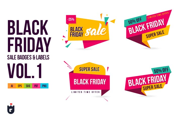 Thumbnail for Black Friday Sale Badges and Labels Vol.1