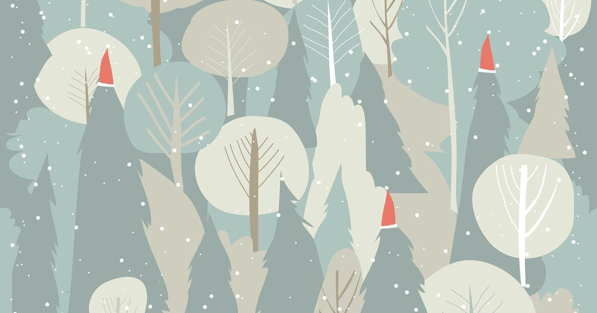 Download Seamless vector winter forest pattern. Christmas b by masastarus