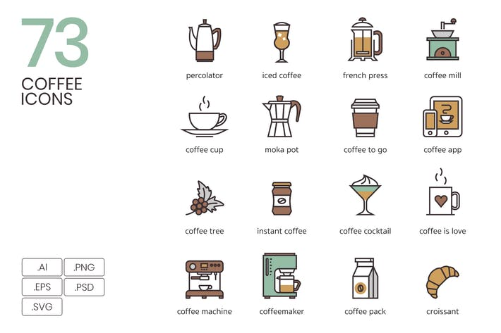 Cover Image For 73 Coffee Icons