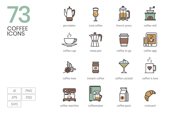 Thumbnail for 73 Coffee Icons