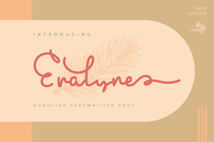 Thumbnail for Erasyne   Fuente manuscrita Monoline