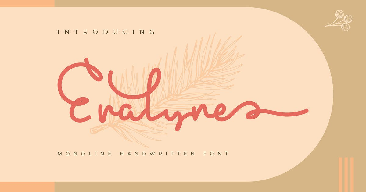 Download Eralyne | Monoline Handwritten Font by Vunira