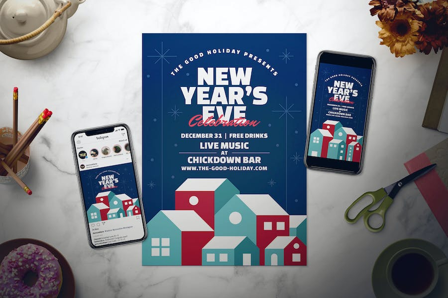New Year's Eve Flyer Set