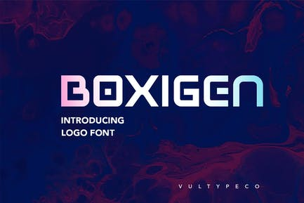 BOXIGEN - Tech Font
