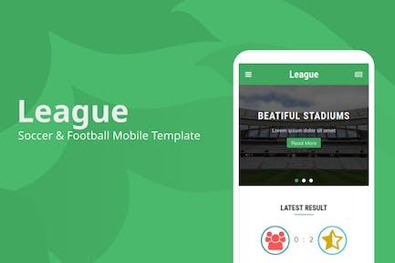 League - Fußball & Fußball Mobile Vorlage