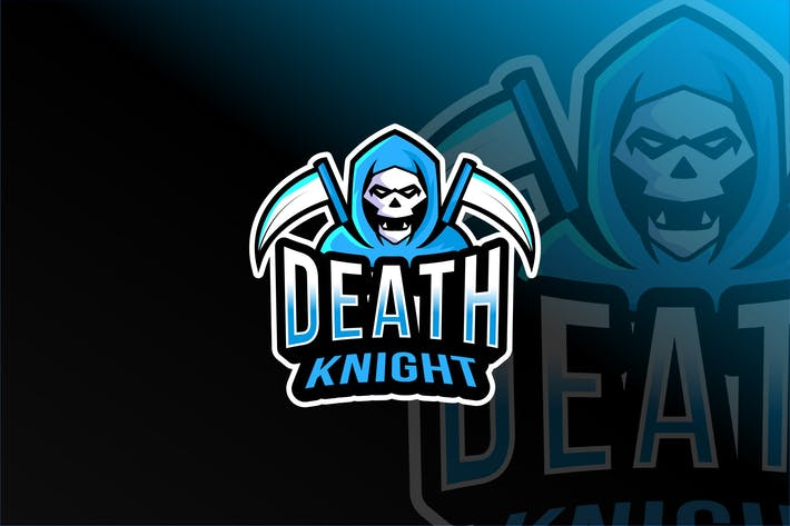 Thumbnail for Death Knight Esport Logo Template