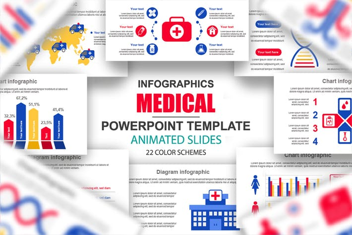 Medical Infographics Multipurpose Powerpoint
