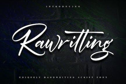 Rawriting | Uniquely Handwriting Script Font