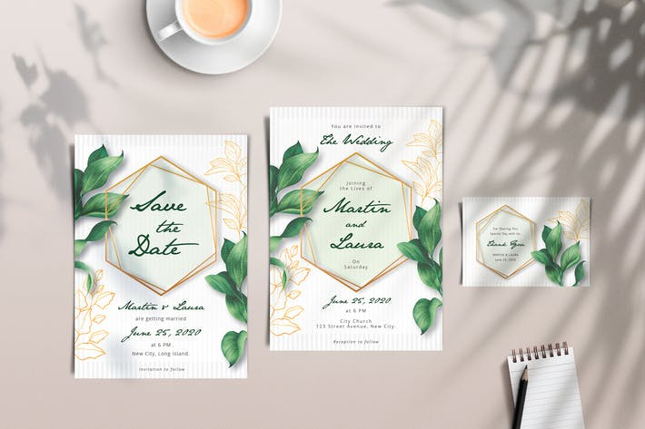 Floral Invitation Simple Set