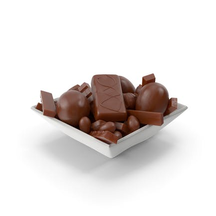 Square Bowl With Assorted Chocolate Candies