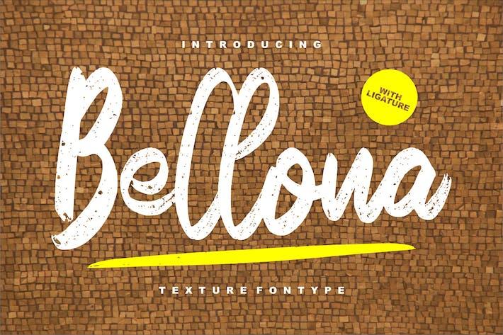 Шрифт текстуры Беллоны