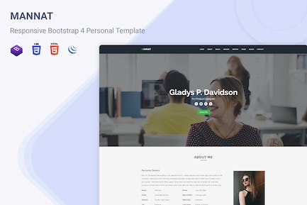 Mannat - Responsive One Page Personal Template