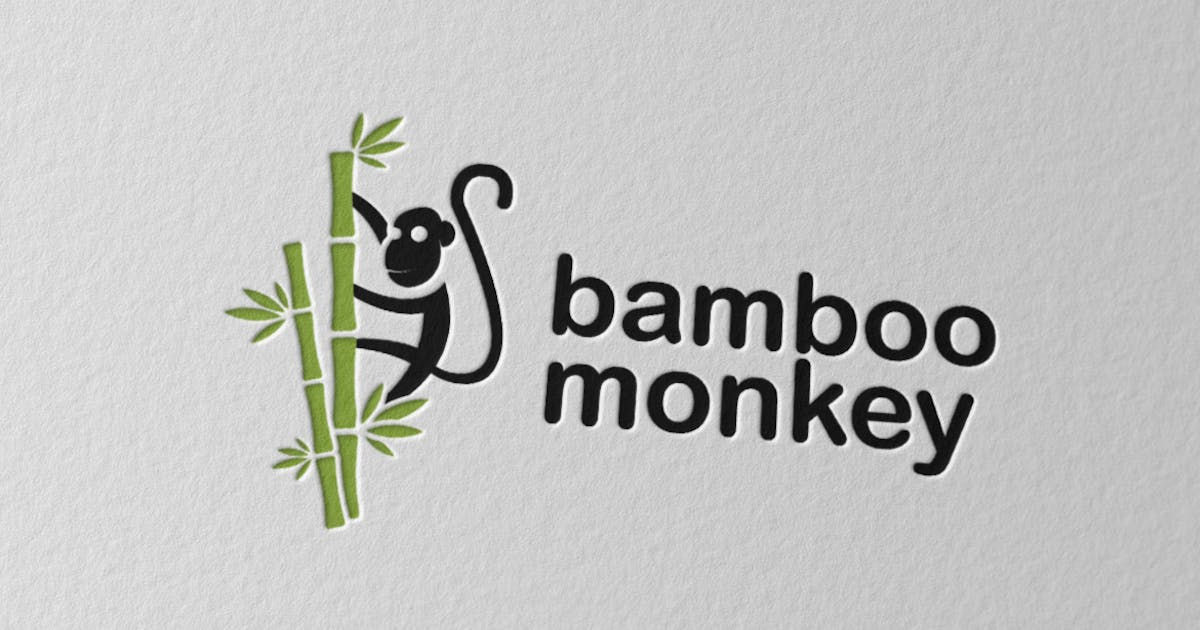 Download Bamboo Monkey Logo by Scredeck