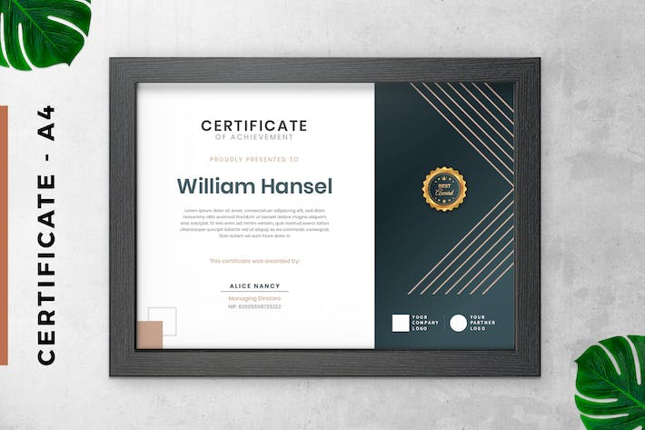 Thumbnail for Black Triangle Certificate / Diploma Template