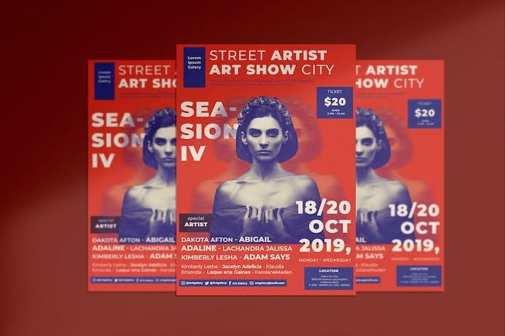 Thumbnail for Art Show Flyer