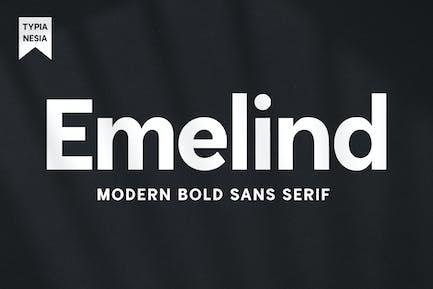 Emelind - Logo moderno Sans