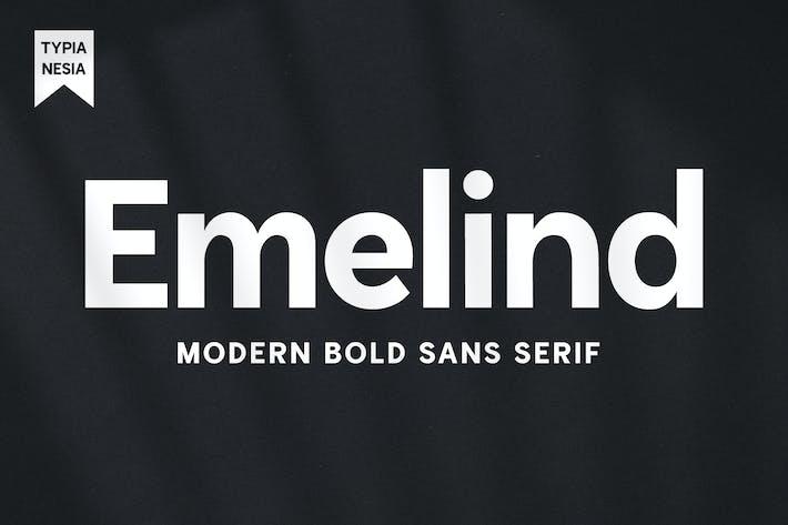 Emelind - Logo Moderne Sans