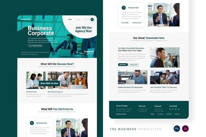 Thumbnail for Business Corporate Email Newsletter