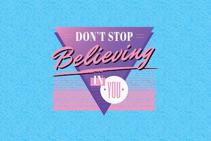 1980er Jahre Stil Slogan Vorlage