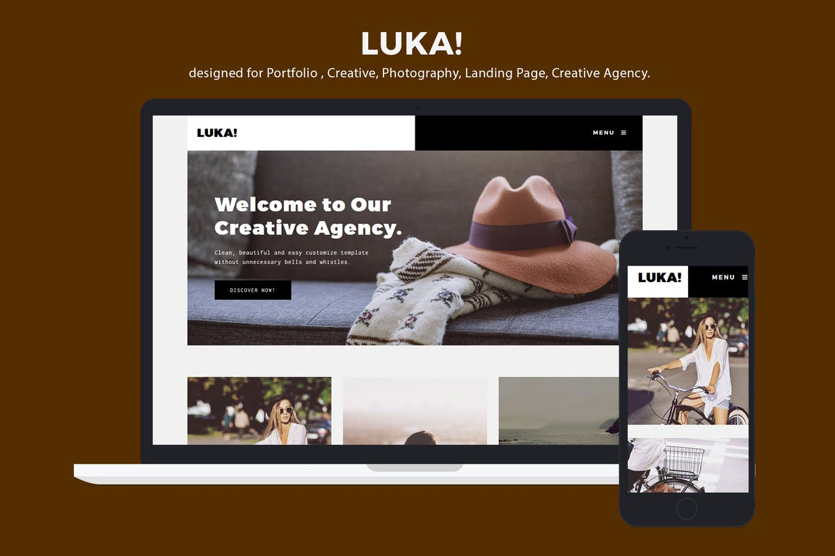 Download Creative Portfolio / Photography Template - Luka by ILMThemes by Unknow