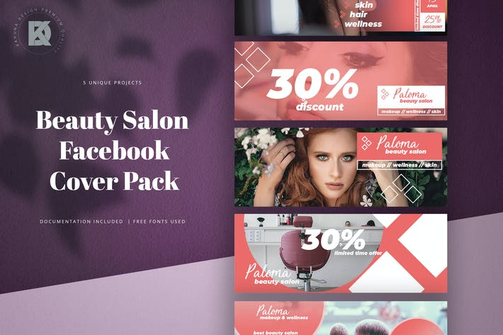 Cover Image For Beauty Salon Facebook Cover Pack