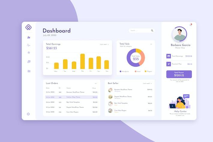 Thumbnail for Shop Admin Dashboard UI Kit