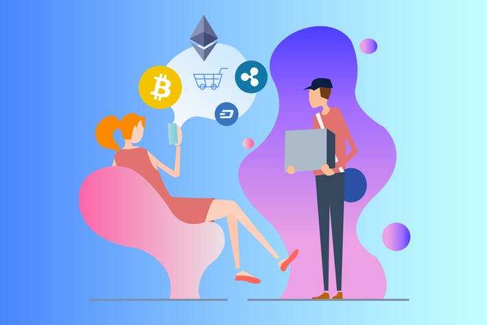 Thumbnail for Cryptocurrency Ecommerce 2D Illustration
