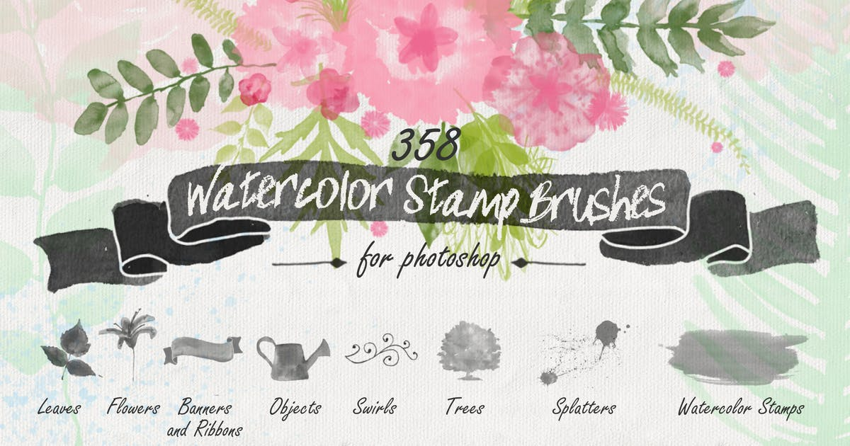 Download Floral Watercolor PS Stamp Brushes by AnnaIvanir