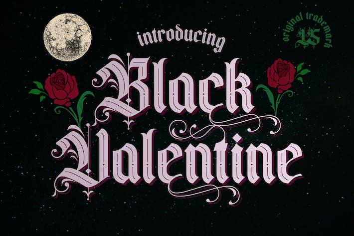 Черный Валентин | Шрифт
