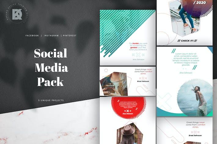 Gradient Color Social Media Kit