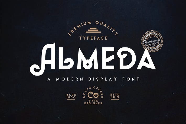 Thumbnail for Almeda // A Moderno Vintage Font