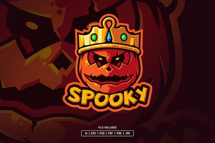 Spooky halloween mascot logo
